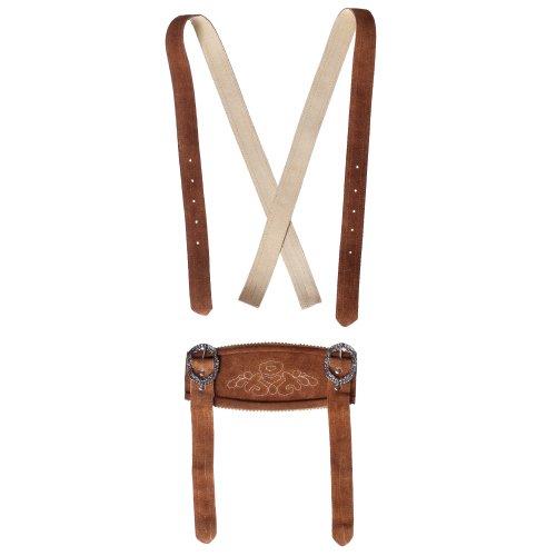 Unbekannt Unbekannt Klassische Hosenträger für Trachten Lederhosen Hosenträger H-Träger Rehbraun