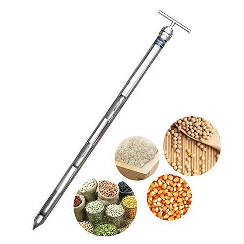 YJINGRUI Muestreador de sonda de grano Muestreador de polvo Diámetro de la sonda de muestreo de acero inoxidable: 25 mm (0.8m)