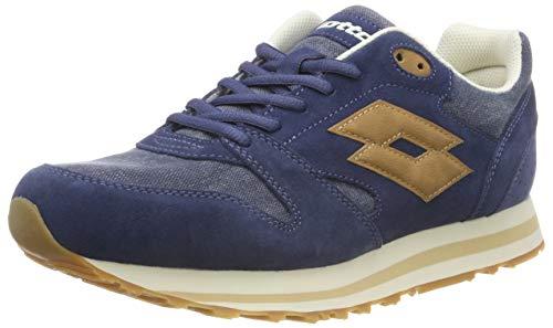 Lotto Trainer XI CVS, Chaussures de Fitness Homme, Bleu (Blu Cit/BGE Tan 020), 48 EU