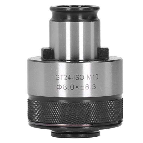 ZHFF Portabrocas M10 para Brocas, portabrocas GT24-ISO-M10, vástago Redondo de 8 mm con Extremo Cuadrado de 6,3 mm, portabrocas HSS para Herramientas de taladradoras