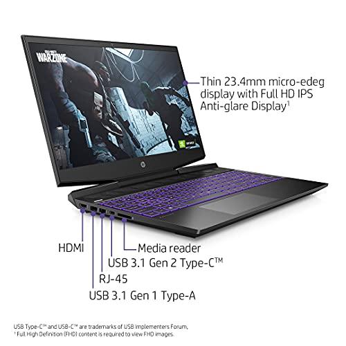 HP Pavilion Gaming 10th Gen Intel Core i5 Processor 15.6-inch FHD Gaming Laptop (8GB/512GB SSD + 32GB Intel Optane/Windows 10/NVIDIA 1650Ti 4GB/Shadow Black), 15-dk1508TX