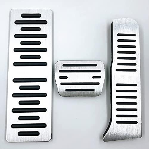 Pedales para Coche Compatible con Audi Q3 2013-2018/TT 2008-2014/A3 2008-2013, Aleación de aluminio...