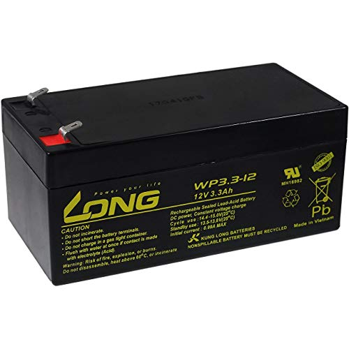 Panasonic KungLong Bleiakku WP3.3-12 für APC SurgeArrest + Batterie Backup BE325-GR, 12V, Lead-Acid