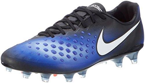 Nike Herren Magista Opus II FG Fußballschuhe, Schwarz (Black/White/Paramount Blue/Aluminium), 42 EU