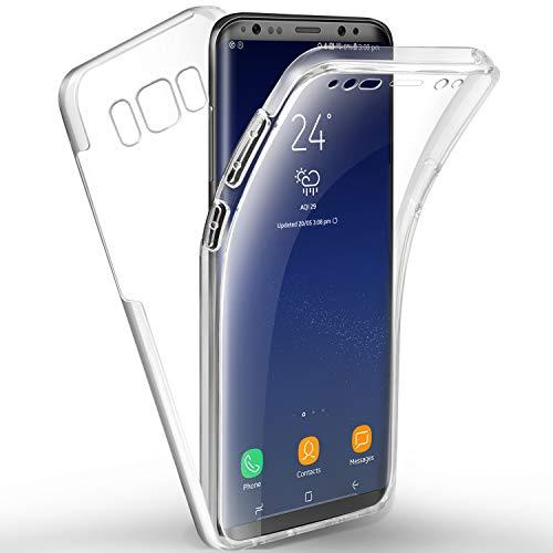AROYI Cover Samsung S8 Plus, Galaxy S8 Plus Transparent Custodia Silicone TPU e PC Full Body Protettiva Premium Resistente Ai Graffi Case Cover per Samsung Galaxy S8 Plus