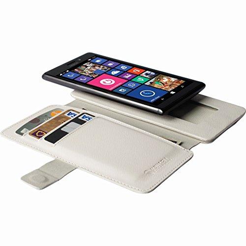 Krusell 76097 Malmoe Flip Wallet Slide Hülle für Smartphone und Tablet weiß