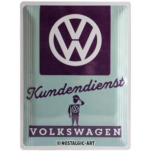 Nostalgic-Art 23224, Volkswagen VW Kundendienst, Blechschild 30x40 cm, Metall, bunt, 30 x 40 x 0,2 cm