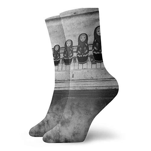 BJAMAJ Unisex Sokken Oude Piano Toetsenborden Interessant Polyester Crew Sokken Volwassene Sokken Katoen