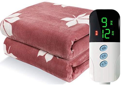 JYYXC Flanell Heizdecke Einzelbett, Mit Timer-Funktion, 9-Fach Temperatureinstellung, Überhitzungsschutz, Vier Jahreszeiten Verfügbar