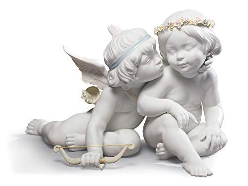 LLADRÓ Figura Ángeles Eros Y Psike. Figura Angelito de Porcelana.