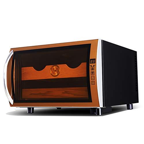 Thermo-elektrische sigarentheekoeler, intelligente elektronische koelkast met een constante temperatuur van twee kernen, led-display, hygrometer en cederhout