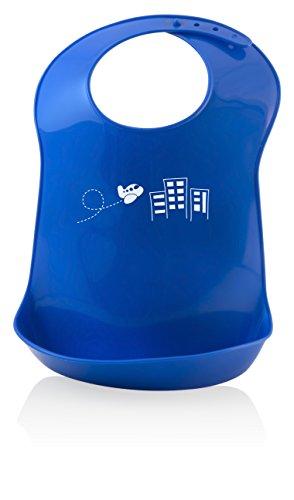 Miniland Verstelbare Flexibele Bib, Blauw