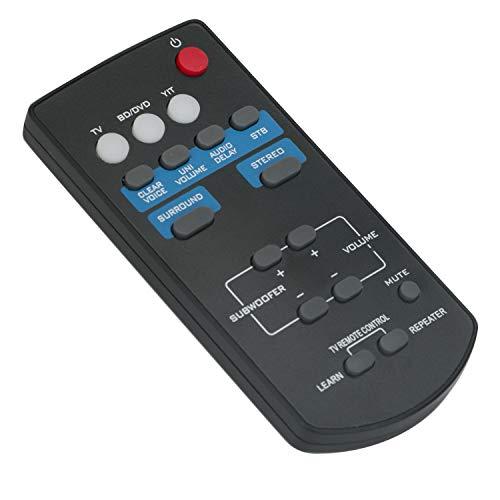 FSR60 WY57800 Mando a Distancia de Repuesto - VINABTY Reemplace Control Remoto para Yamaha Sound Bar ATS1010 YAS101 YAS101BL YFSR60 YAS-201 ATS-201 YAS-201BL YAS-CU201 WY57800 FSR62 ZC94940 Remote