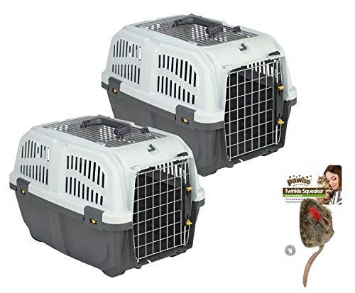 PETGARD 2er Sparpack Transportbox Hundebox Katzenbox SKUDO 1 Open mit gratis Katzenspielzeug