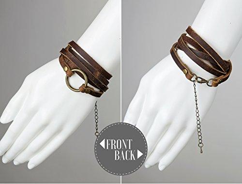 SPUNKYsoul 5 Wrap Leather Circle Bracelet 3