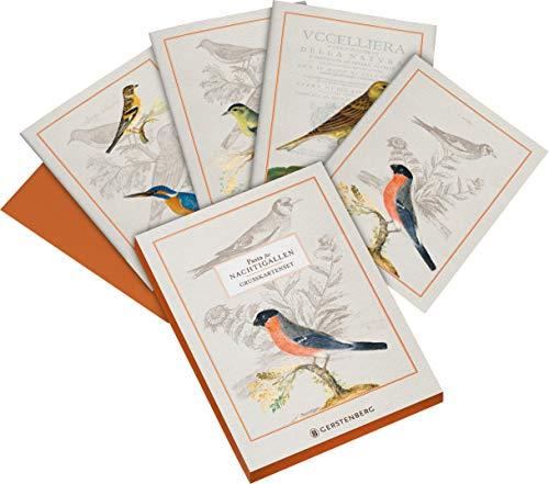 Pasta für Nachtigallen Grußkarten-Set: 8 Doppelkarten mit Umschlag, 4 Motive