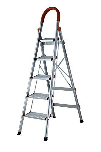 SUPER FLACHE Leiter Aluleiter Trittleiter Haushaltsleiter Alu Malerleiter Stufenleiter 5 oder 6 Stufen (5 Stufen)
