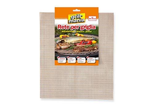 Grill-mania Rete per Griglia BBQ 36x42 cm Antiaderente