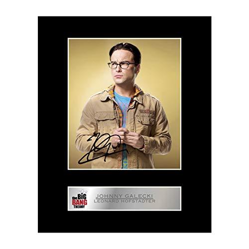 Iconic pics John Galecki, Leonard Hofstadter Photo dédicacée encadrée The Big Bang Theory