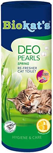 Biokat's Deo Pearls - strooi additief met geur voor frisse en sterke klompen in het kattenpotje - 6 blikjes (6 x 700 g), Spring, 6 x 700 g