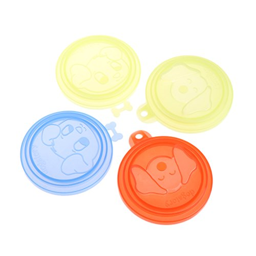 Lowest Prices! tegongse Pet Can Covers, Pet Silicone Storage Covers Cap Dog Cat Reusable Color Rando...