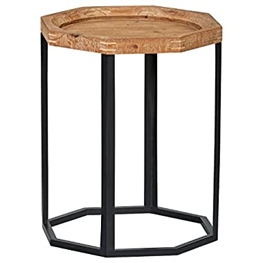 Stone & Beam Arie Octagonal End Table, 17.3  W, Natural
