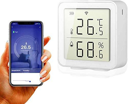 igrometro wifi alexa BNTTEAM Smart WiFi Sensore di umidità igrometro temperatura esterna interna Allarme funziona con display LCD accurato digitale Alexa