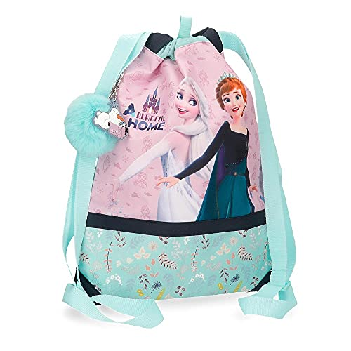 Disney Frozen Arendelle is Home Mochila Saco Azul 30x40 cms Poliéster