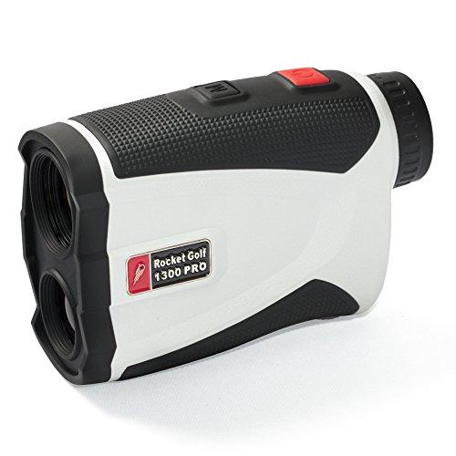 Golflaser.de - Golf Laser Entfernungsmesser Birdie 1300 Pro White - FlagFinder - 1300m Reichweite - Wasserabweisend - Rangefinder RocketGolf
