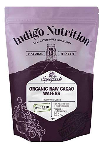 Indigo Herbs Gaufrette au Beurre de Cacao Cru Bio 1kg