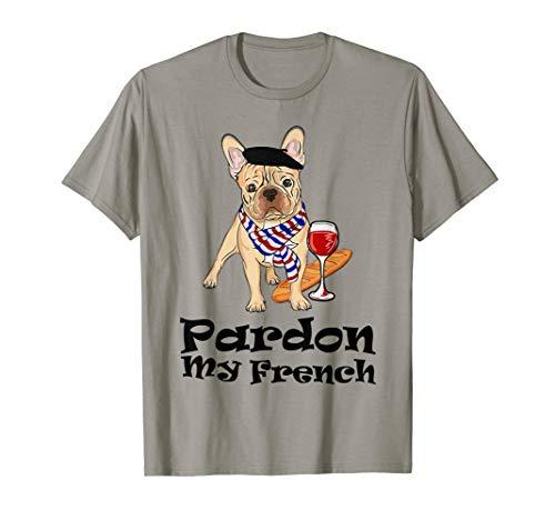 Pardon My French Bulldog Frenchie Lover Fawn T-Shirt