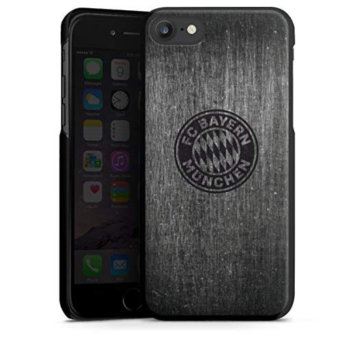 DeinDesign Hard Case kompatibel mit Apple iPhone 7 Schutzhülle schwarz Smartphone Backcover Metallic Look FCB FC Bayern München