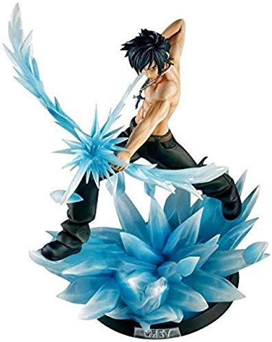 N / A Fairy Tail Anime Figura Modelo Gray Fullbuster Estatua Estatuilla Mano Creativa Fina Juguetes para El Hogar Decoración de Oficina 29 CM