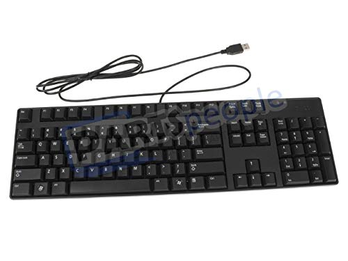 Genuine Dell M372H, N242F, T347F, SK-8175, KB1421, L30U Black Slim Quiet Keys USB Keyboard for Notebook and Desktop Systems with USB Ports