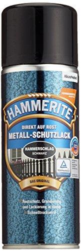 AKZO NOBEL (DIY HAMMERITE) Metall-Schutzlack Hemmerschlag Schwarz 0,400 L, 5087621 Farbe :Hammerschlag Schwarz
