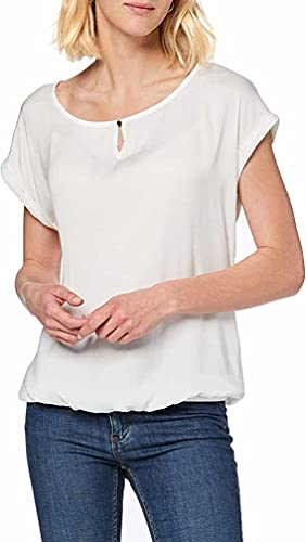 TOM TAILOR Damen 1007955 T-Shirt, Elfenbein (Whisper White 10315), XL