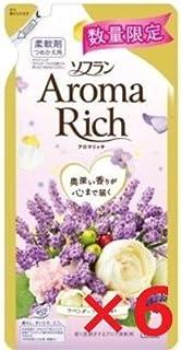 ソフラン アロマリッチ 柔軟剤 ラベンダーの香り 詰め替え430ml6個