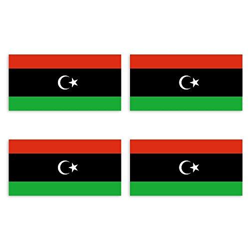 KIWISTAR Aufkleber 4,5 x 2,3 cm Libyen - Land Staat Autoaufkleber Flagge Länder Wappen Fahne Sticker Kennzeichen