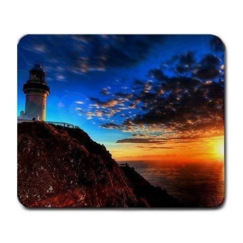 Leuchtturm-szenisches Natur-Foto großes Mousepad Mauspad Große Geschenkidee