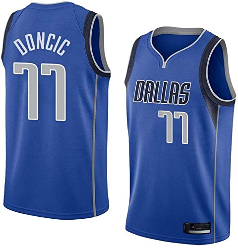 dll Baloncesto Jersey-Luka Doncic-Dallas Mavericks # 77 Jersey, Baloncesto Swingman Jersey de Deporte, Unisex Camiseta sin Mangas, Muchos Estilos (Color : C3, Size : X-Large)