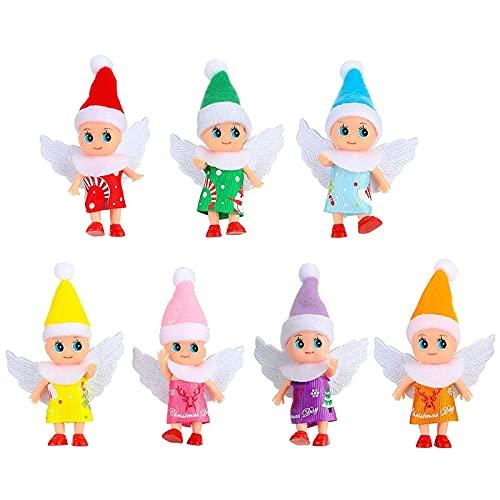 huanyudaeroy Muñecas de elfo con patas de ala para bebé, accesorios de casa de muñecas, muñecas de Navidad, elfos, juguetes para niños