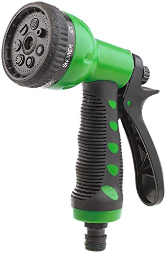 Pistola de Riego Multifuncional-Rociador de Mano de Alta presión,Pistola de Agua de jardín de 8 Funciones,Boquilla para Manguera para Riego de Jardín/Césped, Lavado de Autos, Baño de Mascotas