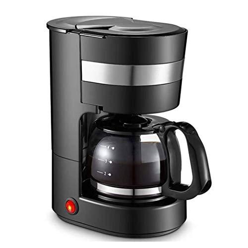 XYUN Draagbaar koffiezetapparaat, kunststof, automatische druppelhuishoudkoffiepoeder, 650 ml, zwart