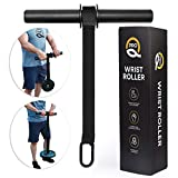 Q Pro Forearm Workout Equipment - Wrist Roller - Forearm Exerciser - Forearm Strengthener - Forearm Trainer - Forearm Blaster - Forearm Roller Weight - Wrist Forearm Developer - Forearm Workout Tool