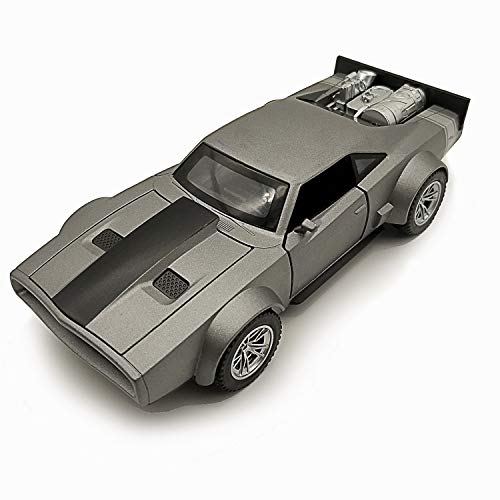 Lmoy 1/32 Scale Diecast Alloy Car Model Fast&Furious 7 Dodge Charger Light & Sound (Grey)