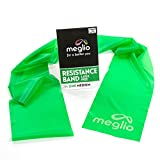 Meglio - Resistance Bands, Exercise Bands, Workout Bands, Latex-Free, Skin Friendly, for Early Stage Rehab, Increase Strength and Muscle Toning, Pilates, Stretching and Home Workouts (Lime)
