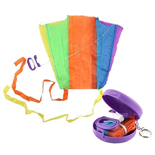 ZZALLL, Bolsillo Plegable, Cometa voladora, Juguete para niños con Estuche de Almacenamiento, Deporte al Aire Libre, Regalo para niños