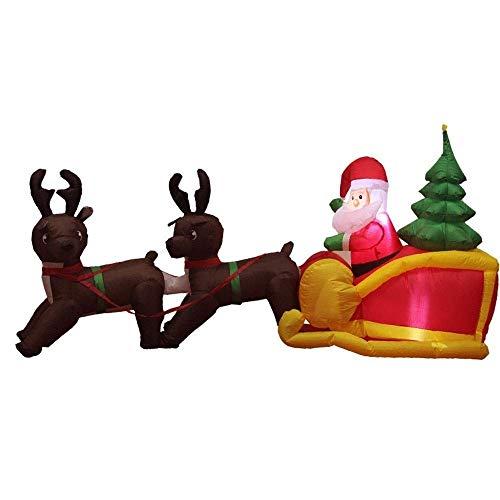MZL Renna Pull Carrello Babbo Natale Gonfiabile Modello Ornamento Di Natale Con Illuminazione A LED Venue Dress Up Outdoor Indoor