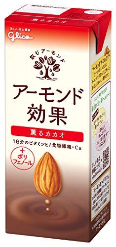 グリコ アーモンド効果 薫るカカオ アーモンドミルク 200ml×24本 常温保存可能