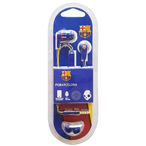 Skullcandy Ink'd 2.0 FC Barcelona - Auriculares in-ear (con micrófono) azul